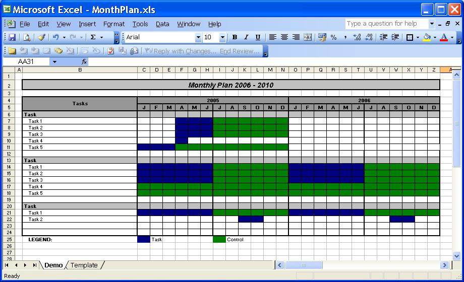 Officehelp - Template (00031) - Calendar Templates 2005 / 2010