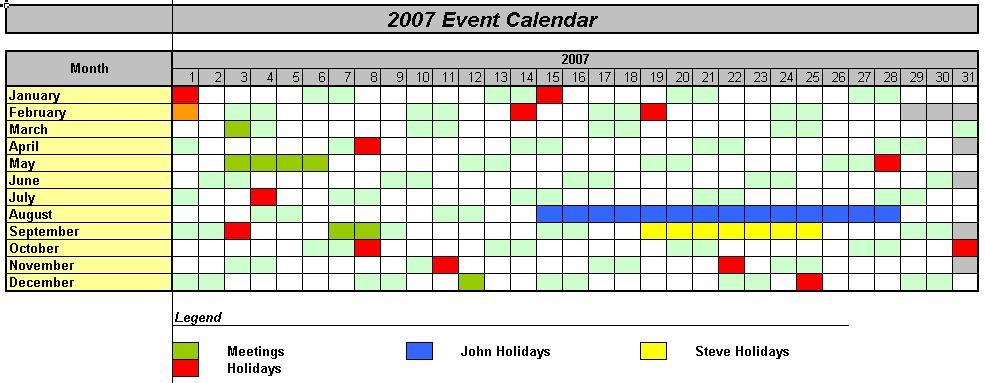 Officehelp  Macro   Traditional Calendars For Excel