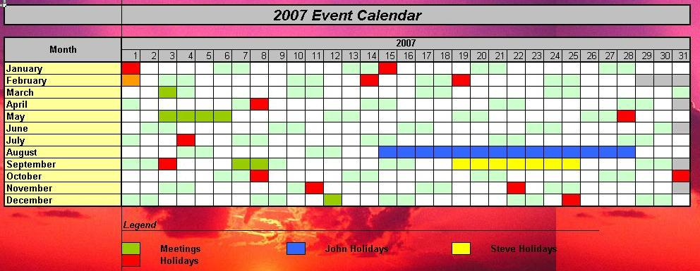 Calendar Planner In Asp : Officehelp macro  traditional calendars for excel